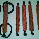 Jeep Wrangler 4 Door Paracord Grab handles orange and rust reverse For Roll Bar