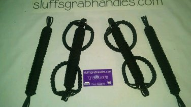 Jeep Wrangler JK, JKU 4 Door Para cord Grab Handles Black for Roll Bar