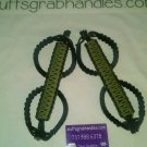 Jeep Wrangler JK Rescue Green & Black reverse wrap Paracord  Grab Handles