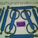 Jeep Wrangler JKU 4 Door Paracord Grab Handles hydro blue & grey FULL SET