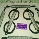 Jeep Wrangler JK, JKU 4 Door Paracord Grab handles Silver and Grey For Roll Bar