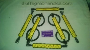 Jeep Wrangler JK, JKU 4 Door Paracord Grab handles yellow and black For Roll Bar