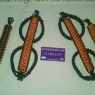 Jeep Wrangler JKU 4 Door Paracord Grab Handles Orange and Black
