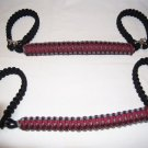 Jeep Wrangler JK maroon and grey Paracord Roll Bar Grab Handles Roll Bar
