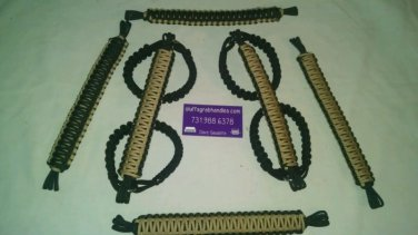 Jeep Wrangler 4 Door Paracord Grab handles Tan and black For Roll Bar
