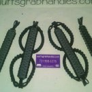 Jeep Wrangler JKU 4 Door Paracord Grab Handles Grey and Black (Anvil)