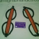 Jeep Wrangler JK Orange and black  Paracord  Grab Handles