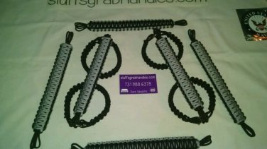 Jeep Wrangler 4 Door Paracord Grab handles black & light Gray reverse
