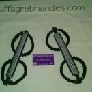 Jeep Wrangler JK light grey & black reverse wrap Paracord  Grab Handles Roll Bar