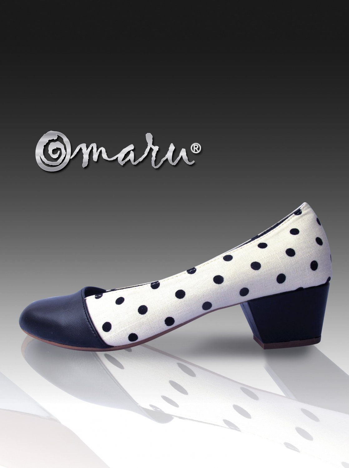 Omaru Shoes - Black & White Basic Dot