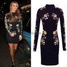 Celeb Black Floral Lace Long Sleeve dress