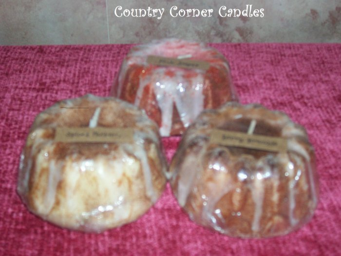 12 Wholesale Bunt Cake Candles ~ U Choose Scent ~