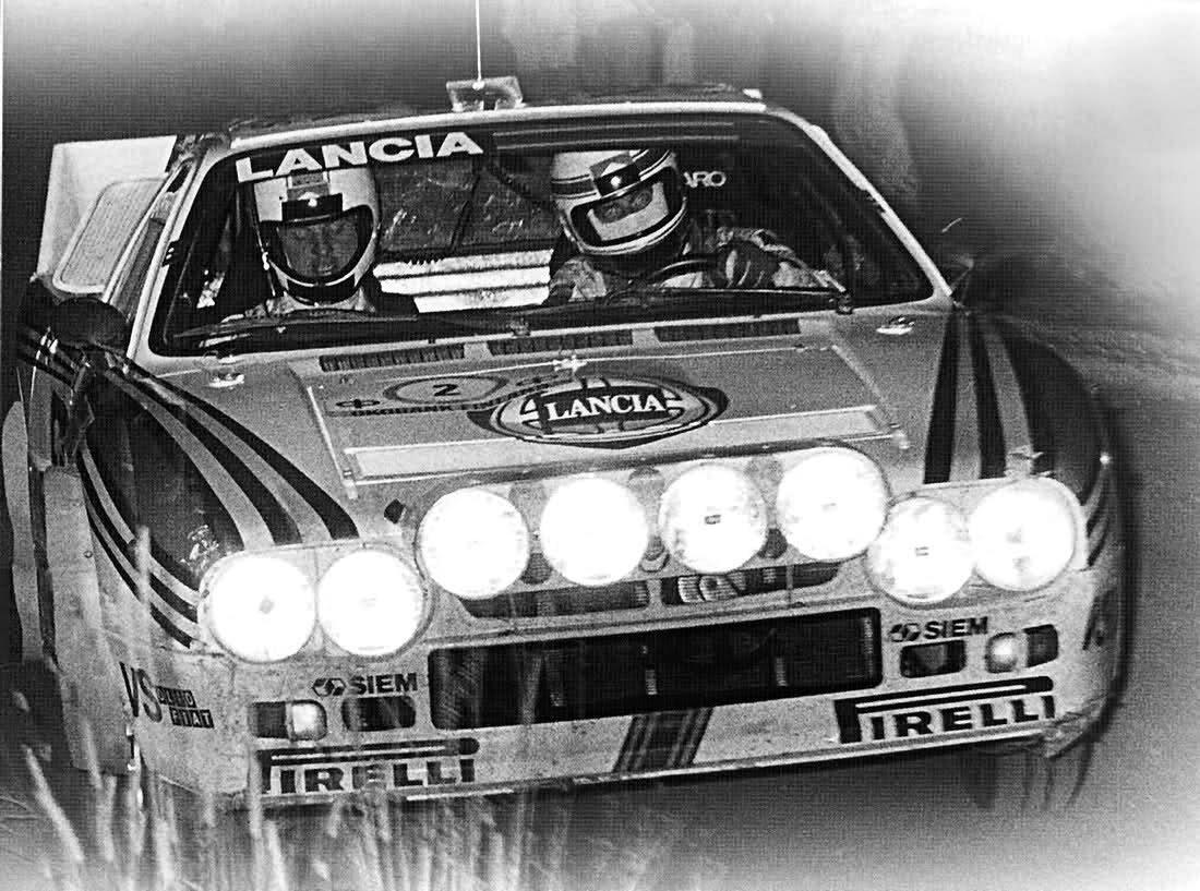 Alen-Kivimaki Lancia 037 at 1983 1000 lakes Rally - Rally Car Photo Print