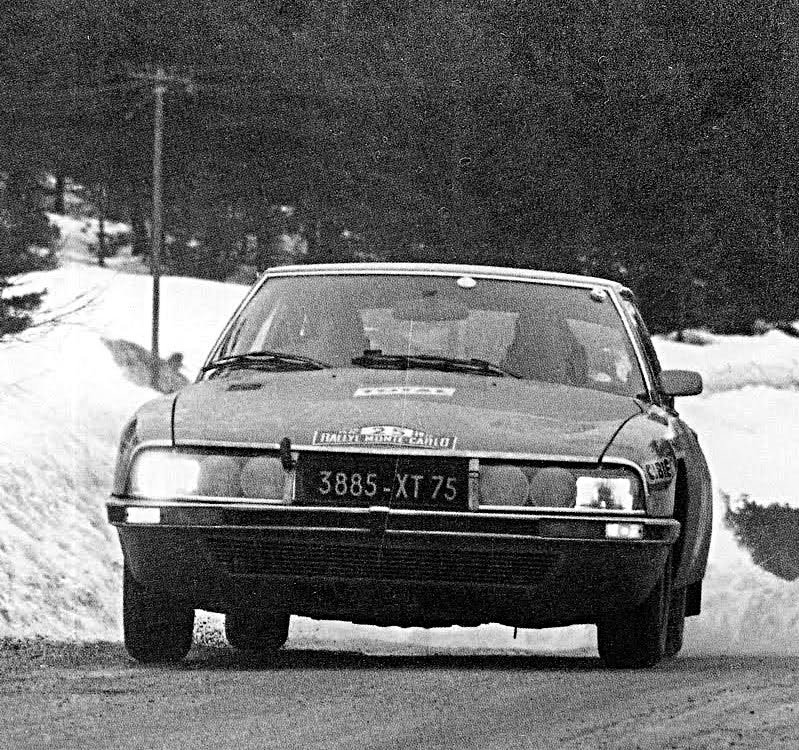 René Trautmann Citroen Maserati 1972 Monte-Carlo Rally - Rally Car Photo Print