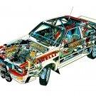 1981 Audi Quattro see-through - Rally Car Photo Print