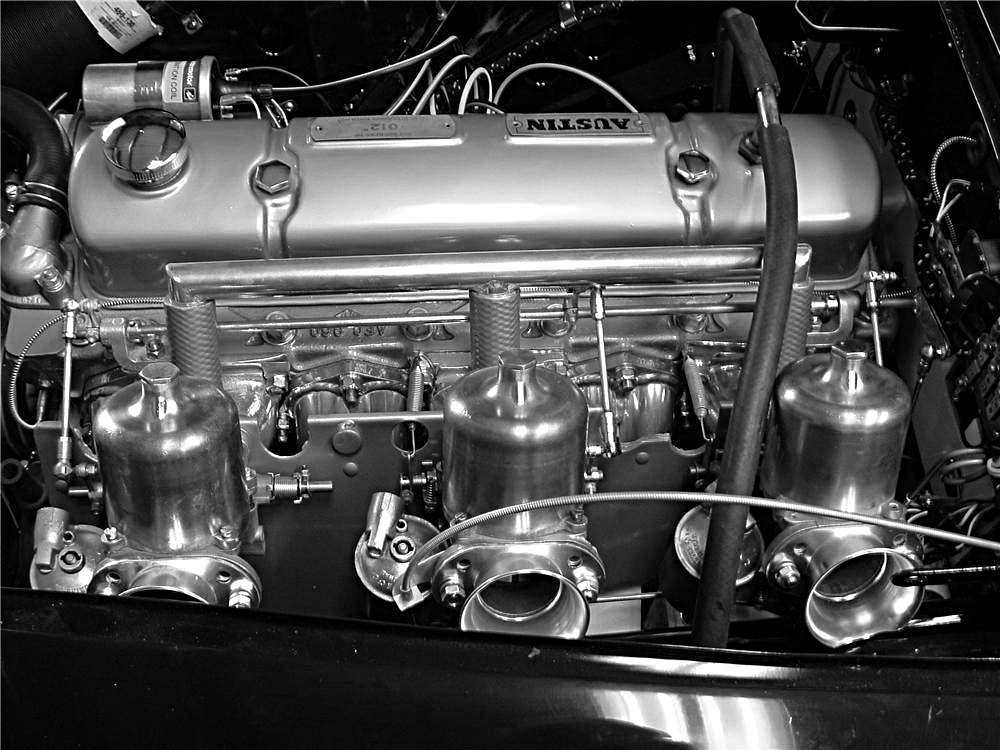 1959 works Austin Healey 3.0 engine - Rally Car Picture Photo Print