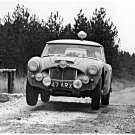 Timo Makinen Works Austin Healey 3.0 racing at 1962 R.A.C. Rally - Rally Car Photo Print
