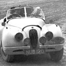 Ian & Patricia Appleyard Jaguar XK120 rallying at 1952 Coupe des Alpes - Rally Car Photo Print