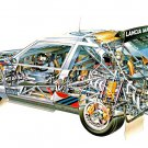 Lancia Delta S4 See-Through - Rally Car Photo Print
