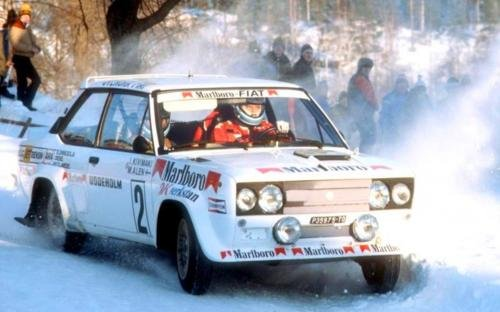 Markku Alen Fiat 131 Abarth 1977 Swedish Rally - Rally Car Photo Print