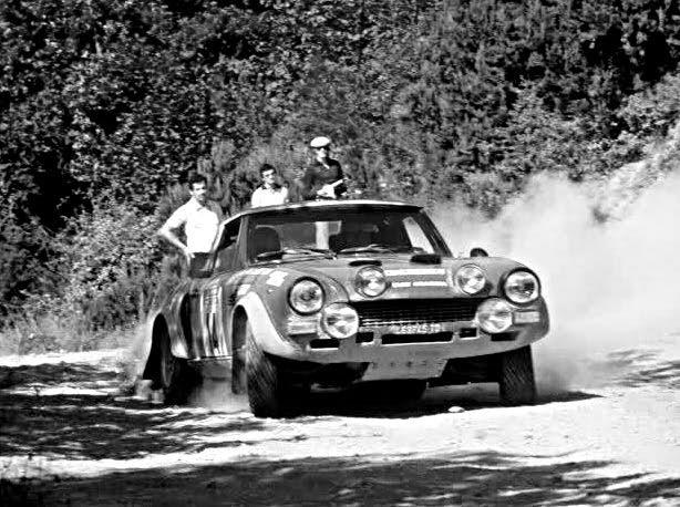 Maurizio Verini Fiat 124 Abarth 1975 Sanremo Rally - Rally Car Photo Print
