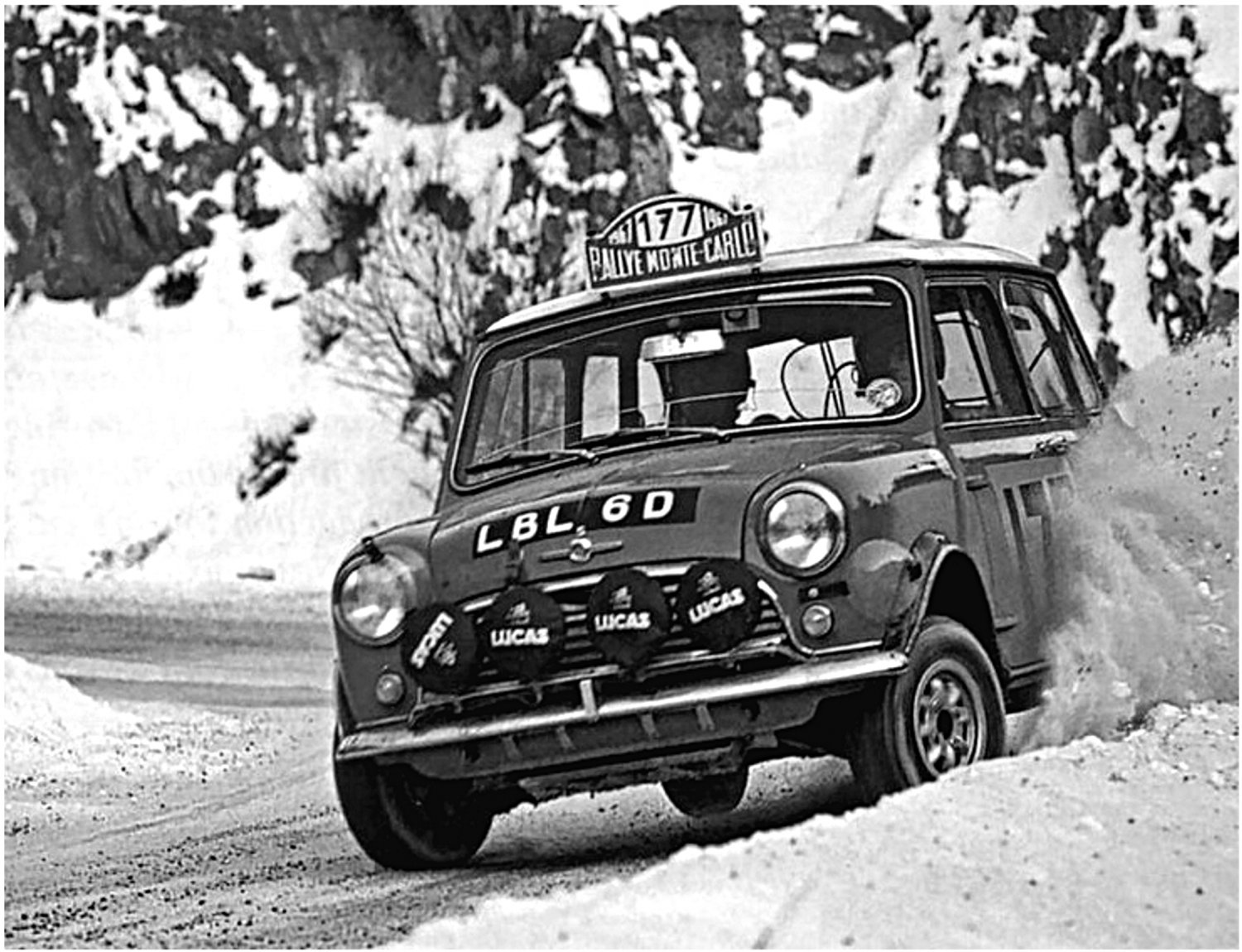 Aaltonen-Liddon Mini Cooper S 1967 Monte-Carlo Winners - Rally Car Photo Print