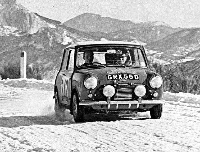 Aaltonen-Liddon Mini Cooper S 1966 Monte-Carlo Rally - Rally Car Photo Print