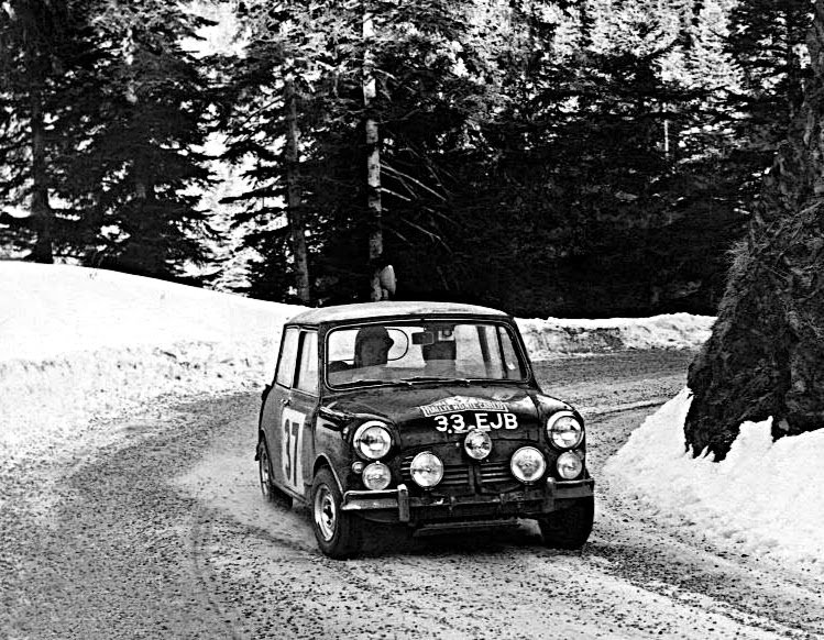 Paddy Hopkirk Mini Cooper S 1964 Monte-Carlo Winner #1 - Rally Car Photo Print