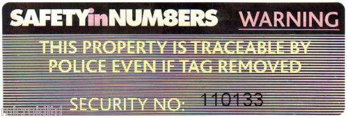 HOLOGRAM SECURITY LABELS  (Pack of 10)