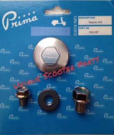 Prima Magnetic Oil Drain Kit; Genuine, GY6, Kymco