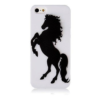 Black Horse Aluminium Plastic Hard Back Case for iPhone 5/5S