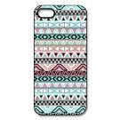 Custom Girly Floral Tribal Aztec Printed Aluminium Plastic Hard Back Case for iPhone 5/5S