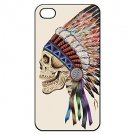 Death Skeleton Side Colorful Skull Aluminium Plastic Hard Back Case for iPhone 5/5S