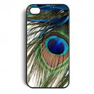 Peacock Feather Aluminium Plastic Hard Back Case for iPhone 5/5S