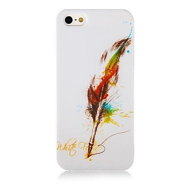 Quill-Pen Pattern Aluminium Plastic Hard Back Case for iPhone 5/5S