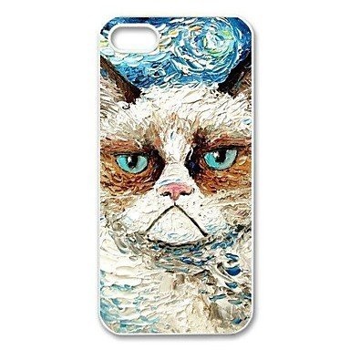 Vincent Van Gogh's Grumpy Cat Aluminium Plastic Hard Back Case for iPhone 5/5S