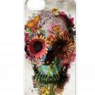 Floral Skull Aluminium Plastic Hard Back Case for iPhone 5/5S
