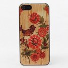 Red Birds and Flowers Aluminium Plastic Hard Back Case for iPhone 5/5S