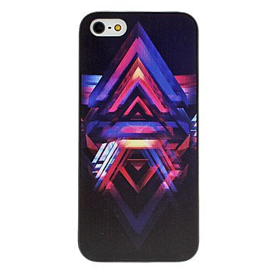 Inverted V Pattern Aluminium Plastic Hard Back Cover Case for iPhone 5/5S