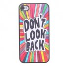 Letters Pattern Aluminium Plastic Hard Back Cover Case for iPhone 5/5S