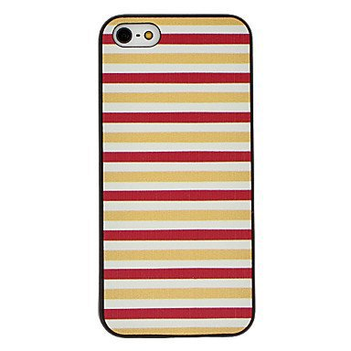 Red and Orange Stripes Aluminium Plastic Hard Back Cover Case for iPhone 5/5S