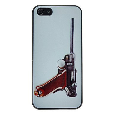 Silver Gun Aluminium Plastic Hard Back Cover Case for iPhone 5/5S