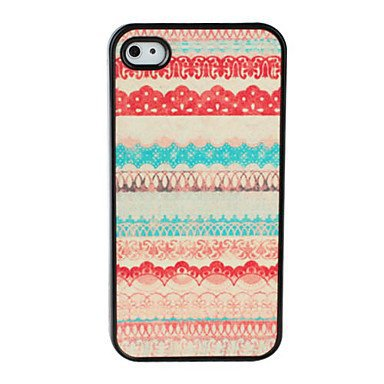 Special Pattern Dull Polish Aluminium Plastic Hard Back Cover Case for iPhone 5/5S
