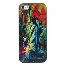 Free Shipping the Statue of Liberty Scrawl Aluminium Plastic Hard Back Cover Case for iPhone 5/5S
