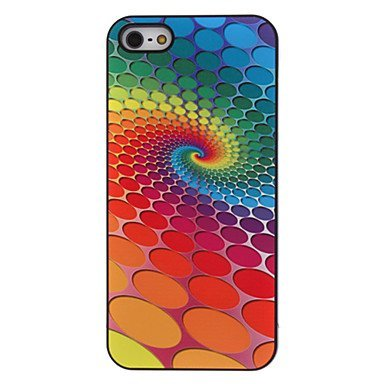 Free Shipping Colorful Round Dots Vorte Aluminium Plastic Hard Back Cover Case for iPhone 4/4S