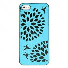 Free Shipping Hollow out Flower Aluminium Plastic Hard Back Cover Case for iPhone 4/4S