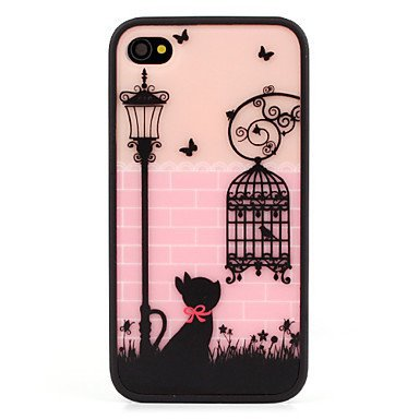 Free Shipping Protective Polycarbonate Bumper Aluminium Plastic Hard Back Cover Case for iPhone 4/4S
