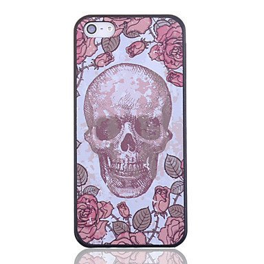 Free Shipping Rose Skull Aluminium Plastic Hard Back Cover Case for iPhone 4/4S