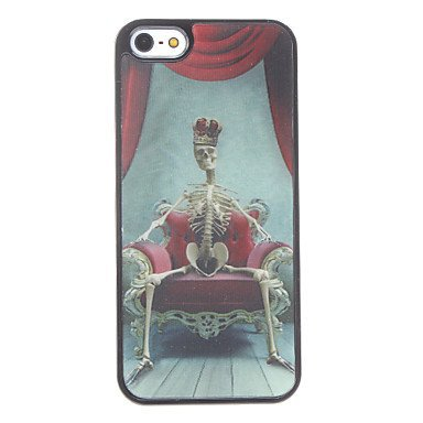 Free Shipping Skeleton King Aluminium Plastic Hard Back Cover Case for iPhone 4/4S