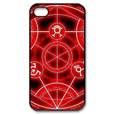 Free Shipping Full Metal Alchemist Aluminium Plastic Hard Back Cover Case for iPhone 4/4S